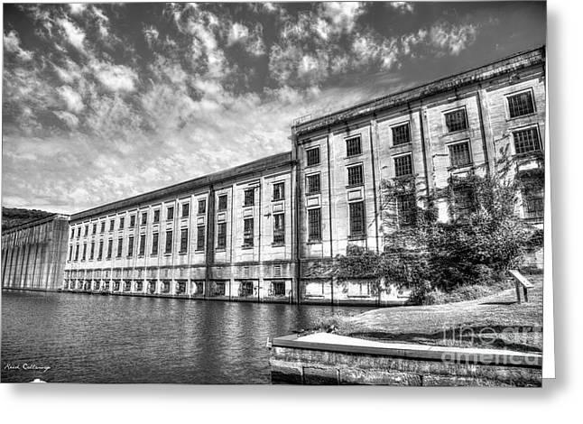 Hales Bar Dam B W Tennessee Valley Authority Tennessee River Art Greeting Card