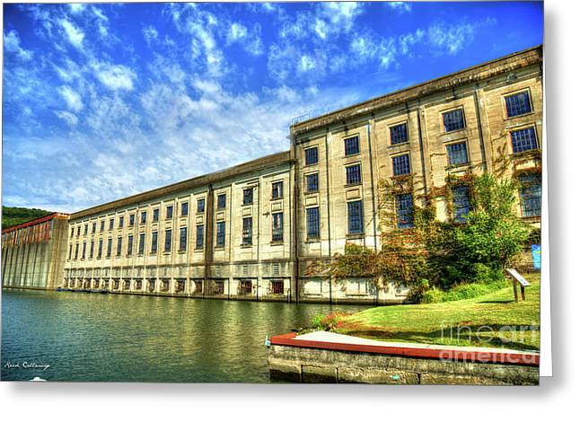 Hales Bar Dam Tennessee Valley Authority Tennessee River Art Greeting Card