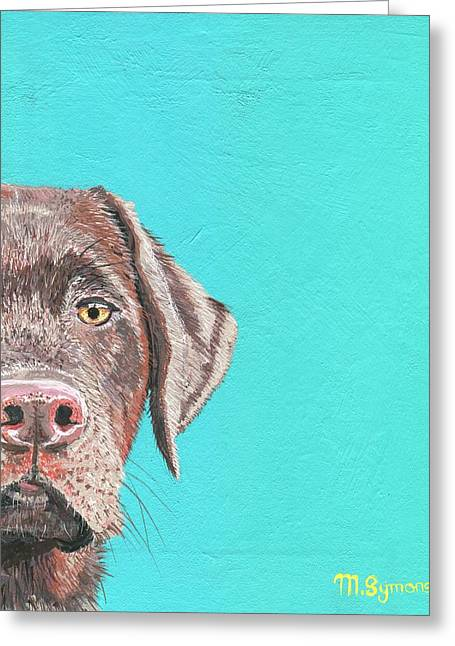 Half A Chocolate Greeting Card by Melissa Symons