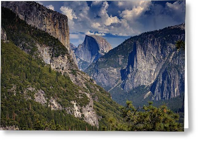 Half Dome And El Capitan Greeting Card by Rick Berk