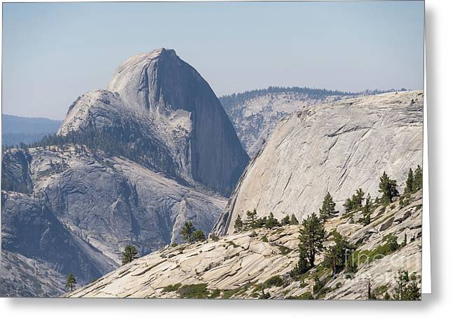 Half Dome And Yosemite Valley From Olmsted Point Tioga Pass Yosemite California Dsc04246 Greeting Card by Wingsdomain Art and Photography