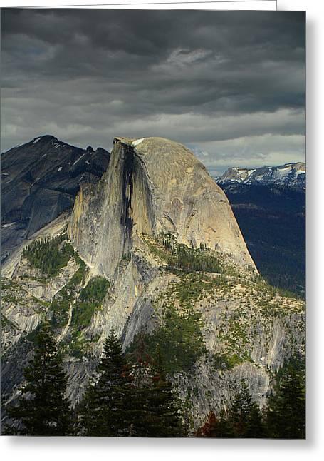 Half Dome From Pohono Trail 2 Greeting Card by Raymond Salani III