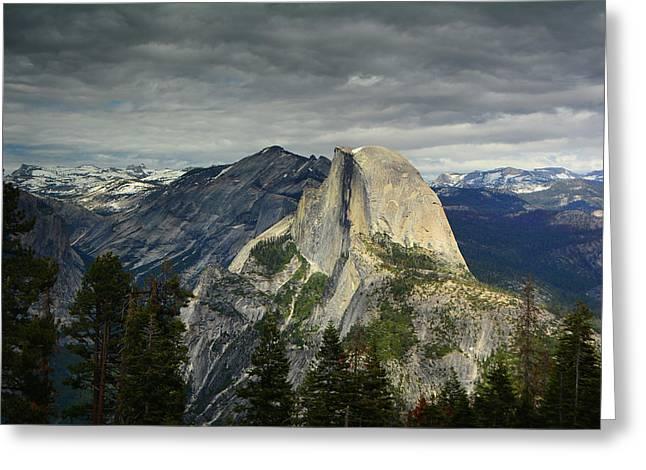Half Dome From Pohono Trail Greeting Card by Raymond Salani III
