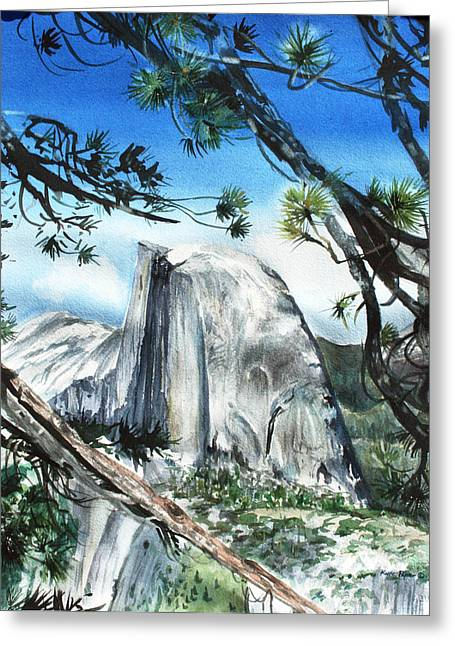 Half Dome In The Late Afternoon Greeting Card by Kate Peper