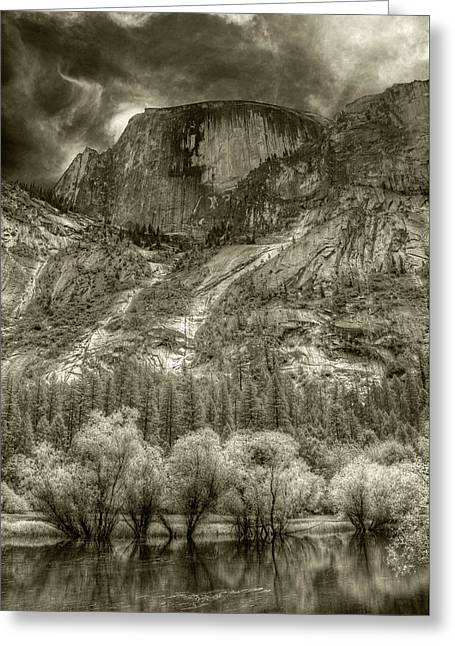 Half Dome Over Mirror Lake Greeting Card