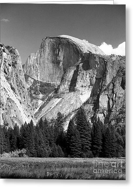 Greeting Card featuring the photograph Half Dome by Ron Sadlier