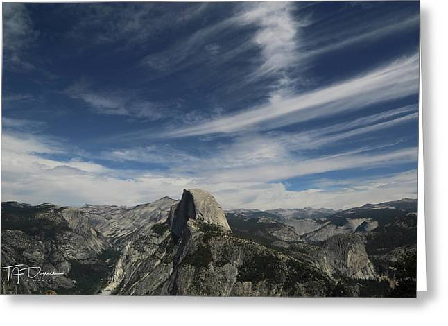 Half Dome Sky Greeting Card