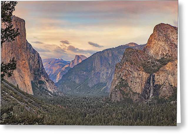 Yosemite Sunset Greeting Card