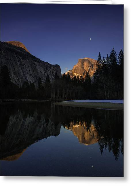 Half Dome, Twilight Greeting Card