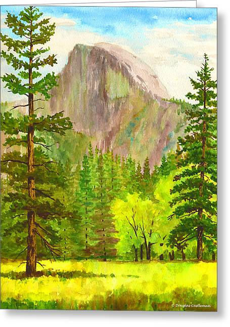 Half Dome With Trees Greeting Card