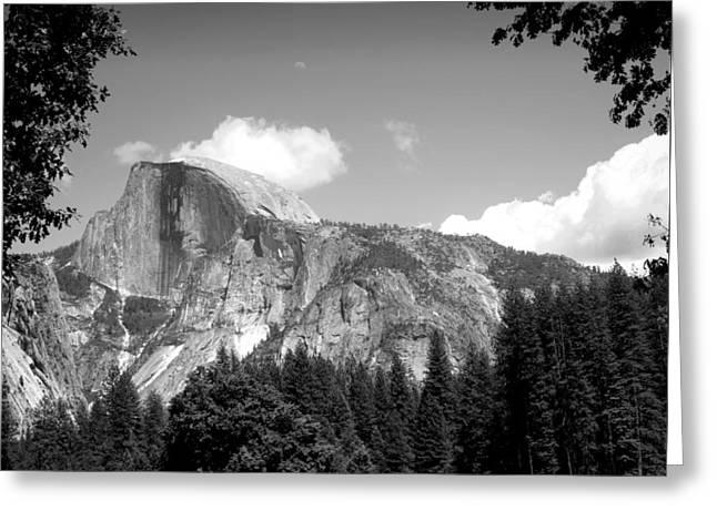 Half Dome Yosemite B And W Greeting Card