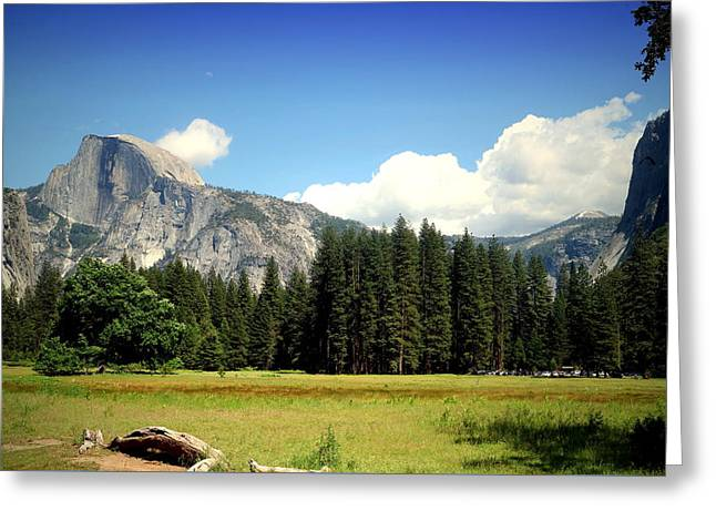 Half Dome Yosemite From The Meadow Greeting Card