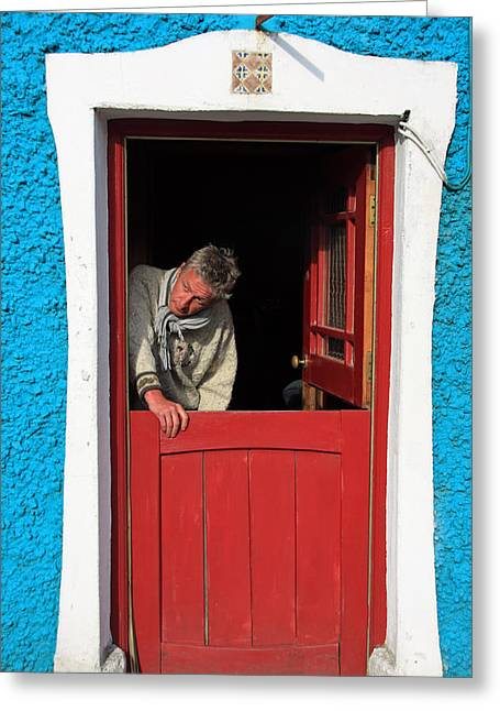 Half Door Greeting Card by Aidan Moran