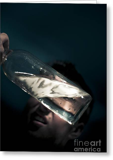Half Full Or Half Empty Greeting Card by Jorgo Photography - Wall Art Gallery