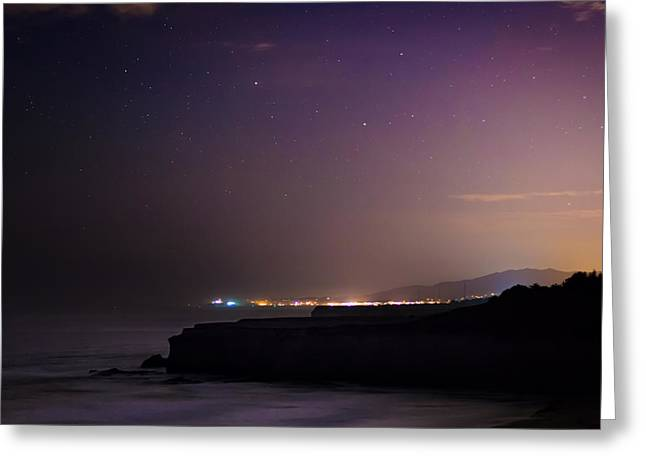 Half Moon Bay Aglow Greeting Card