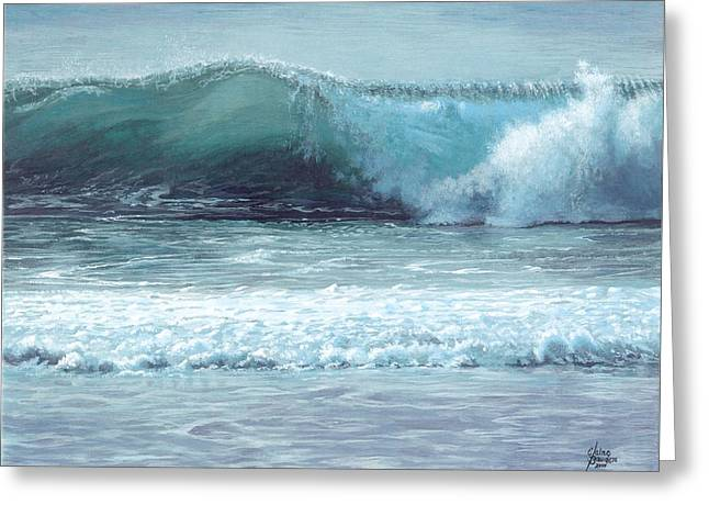 Half Moon Bay Greeting Card by Elaine Bawden