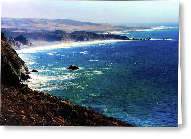 Half Moon Bay Greeting Card by Karen Wiles