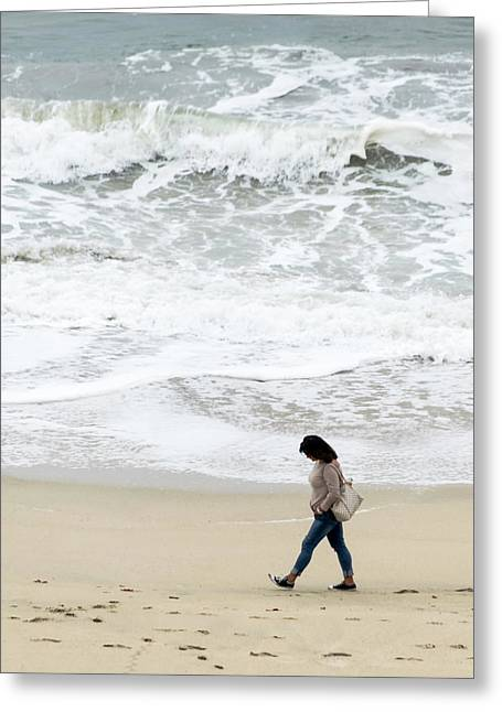 Half Moon Bay Meditations Series 1 Greeting Card by Steven Richman