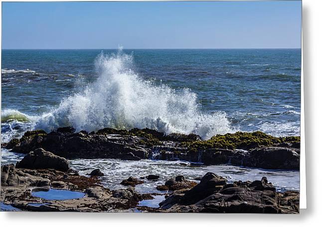 Cal Coast Wave Crash 1 Greeting Card