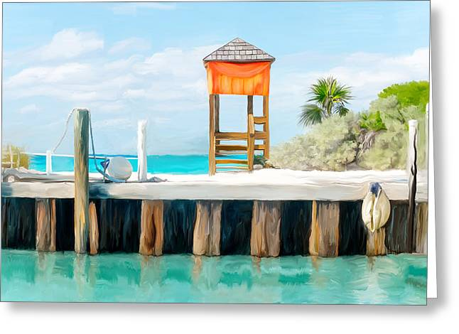 Half Moon Cay Greeting Card