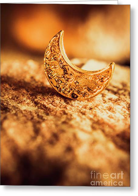Half Moon Crescent. Bedtime Scene Greeting Card