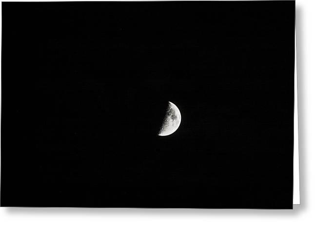 Half Moon Greeting Card by Mark Russell