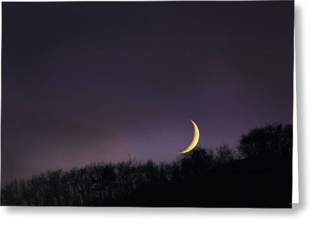 Half Moon Greeting Card by Martina  Rathgens