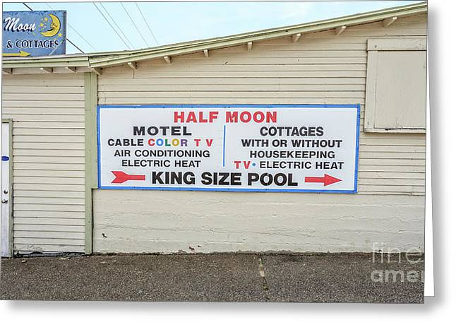 Half Moon Motel And Cottages Weirs Beach New Hampshire Greeting Card by Edward Fielding
