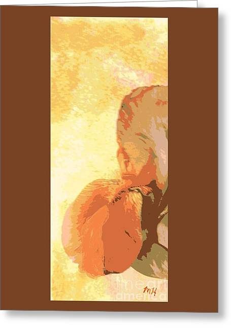 Half Of An Abstract Iris Greeting Card by Marsha Heiken