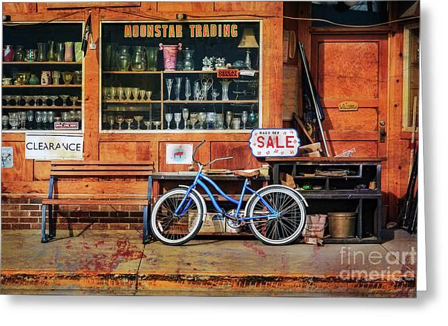 Greeting Card featuring the photograph Half Off Sale Bicycle by Craig J Satterlee