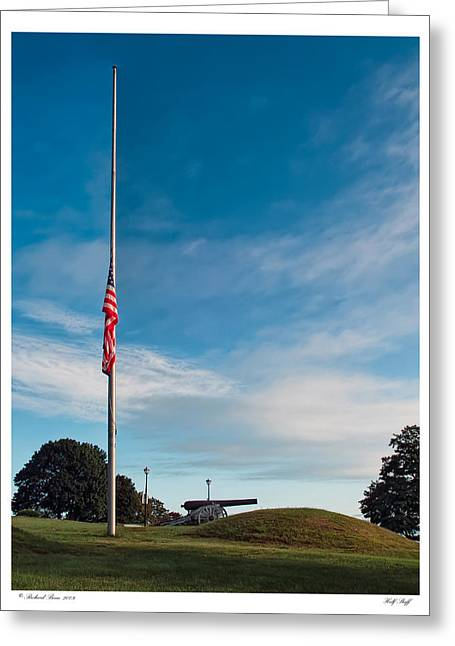Greeting Card featuring the photograph Half Staff by Richard Bean