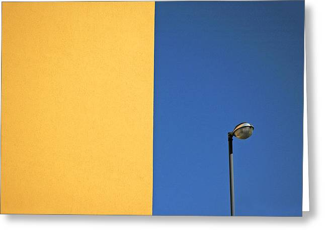 Half Yellow Half Blue Greeting Card