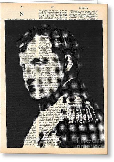 halftone Napoleon  Greeting Card