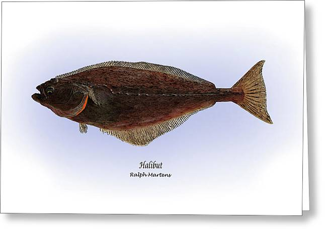 Fishing Prints Greeting Cards - Halibut Greeting Card by Ralph Martens