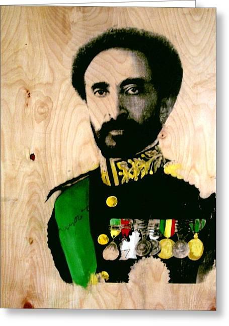 Heir Greeting Cards - Halie Selassie 2 Greeting Card by Robert Cunningham