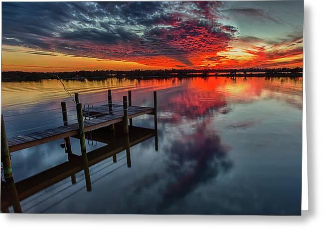 Halifax River Sunset Greeting Card