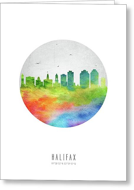 Halifax Skyline Canshx20 Greeting Card by Aged Pixel