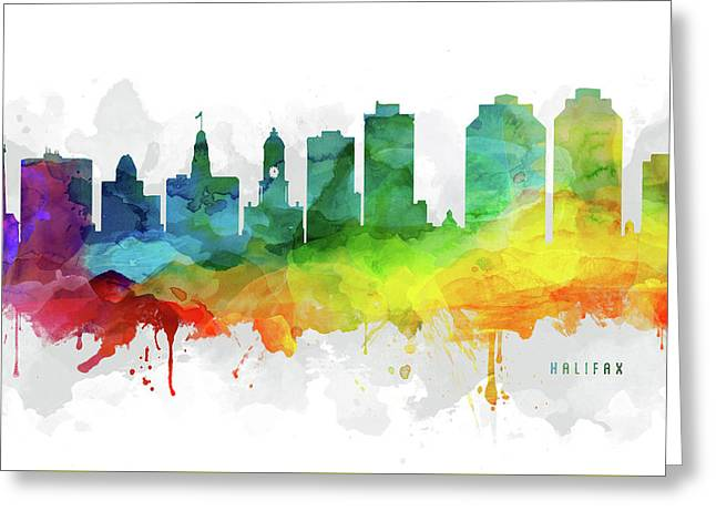 Halifax Skyline Mmr-canshx05 Greeting Card by Aged Pixel