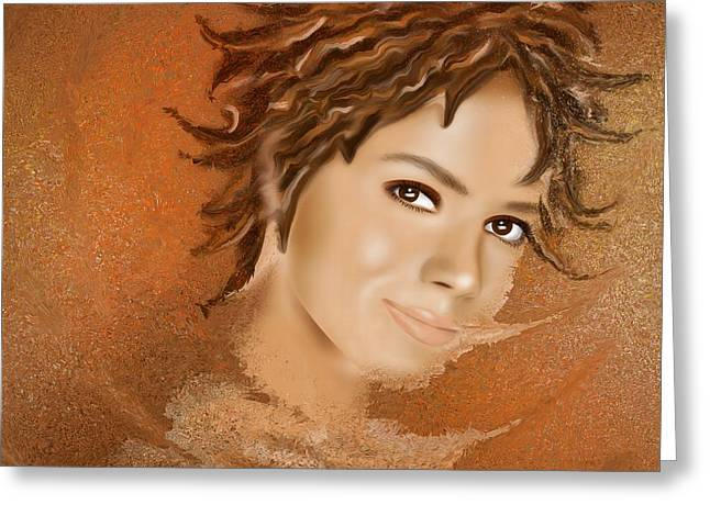 Halimissina - Halle Berry Greeting Card by Cersatti