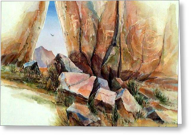 Hall Of Giants Greeting Card by Don Trout