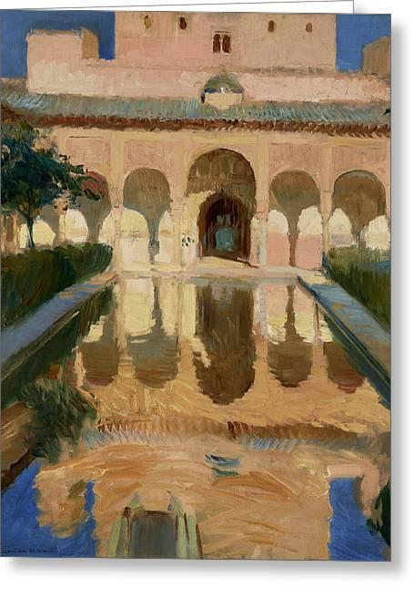 Hall Of The Ambassadors, Alhambra, Granada Greeting Card
