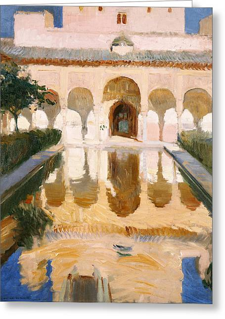 Hall Of The Embassadors Alhambra Granada Greeting Card