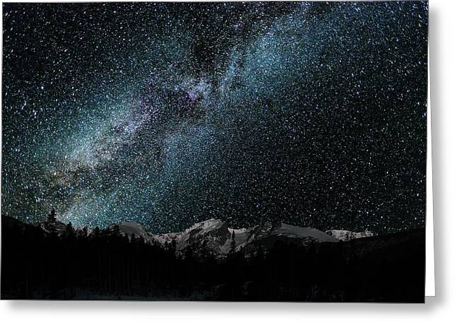 Hallet Peak - Milky Way Greeting Card