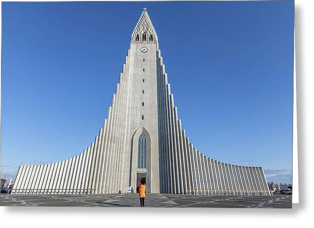 Hallgrimskirka Greeting Card by Wade Courtney