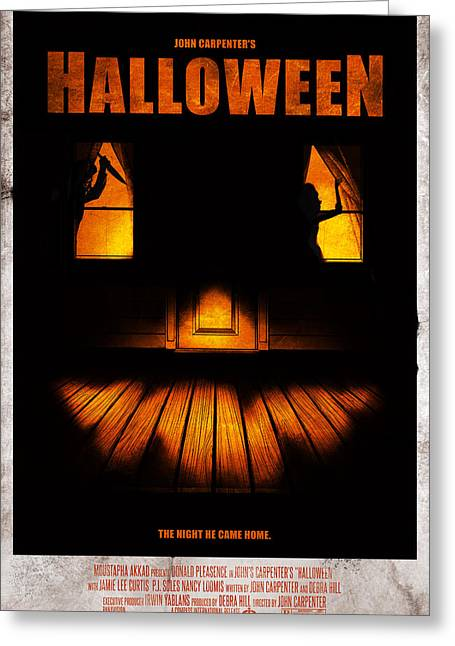 Halloween Alternative Movie Poster Greeting Card