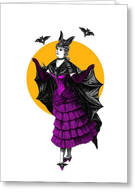 Halloween Batgirl Greeting Card