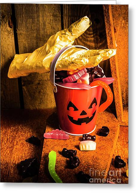 Halloween Candy Still Life Greeting Card