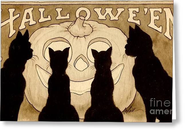 Halloween Card Greeting Card by American School