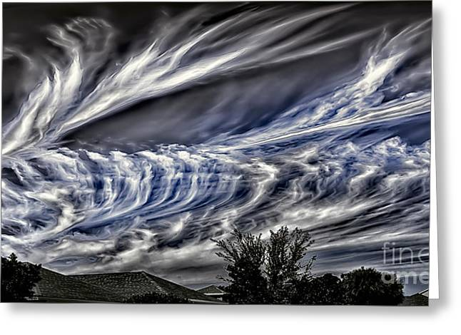 Halloween Clouds Greeting Card