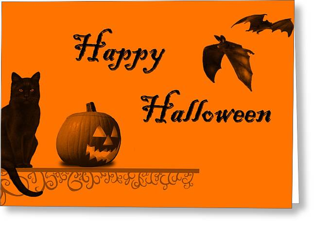Halloween Greeting Card by Darren Fisher